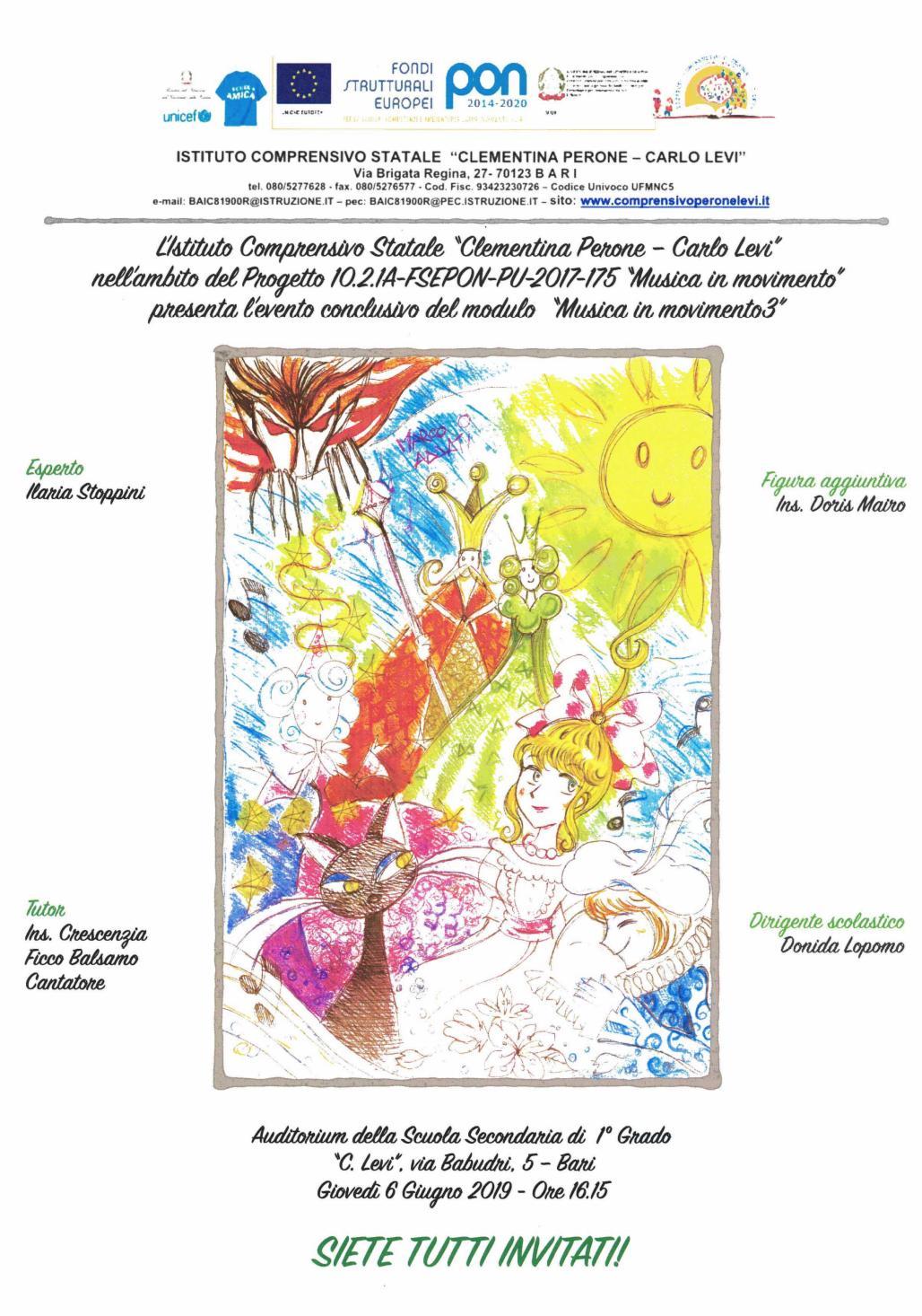 Scuola Re David Bari Calendario Scolastico.Le Locandine Dei Nostri Pon 2019 Www Icperonelevi Gov It